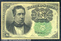 Fractional Currency: , 1874-1876 10c Fifth Issue, Meredith, Fr-1264, XF. A well center...