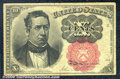 Fractional Currency: , 1874-1876 10c Fifth Issue, Meredith, Fr-1266, VF. The centerfol...