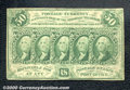 Fractional Currency: , 1862-1863 50c First Issue, Washington, Fr-1312, Fine. The margi...