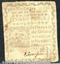 Colonial Notes:Connecticut, October 11, 1777, 3d, Connecticut, CT-215, VF. This is the blue...