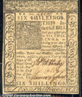 Colonial Notes:Delaware, January 1, 1776, 6s, Delaware, DE-78, Ch CU. A beautiful note w...