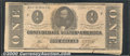 Confederate Notes:1862 Issues, 1862 $1 Clement C. Clay, T-55, VF. The top margin is close with...