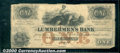 Obsoletes By State:Iowa, $1, The Lumberman's Bank, Dubuque, IA, 9/1/1857, VG. A very att...