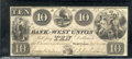 Obsoletes By State:Ohio, $10, The Bank of West Union, OH, 11/2/1840, XF. Attractive vign...