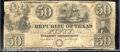 Miscellaneous:Republic of Texas Notes, $50, The Republic of Texas, Austin, TX, 11/9/1839, A7, VG-Fine....