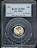 1931 10C MS 67 Full Bands PCGS. Dan Miller. Shimmering, frosty surfaces reveal a whisper of golden color in the peripher...