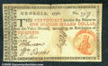Colonial Notes:Georgia, 1776, $1, Georgia, GA-71c, XF. A beautiful note with great eye ...