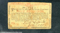 Colonial Notes:New York, August 25, 1774, 4s, New York, NY-169, VF-XF. The bright red co...
