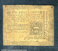 Colonial Notes:Pennsylvania, April 3, 1772, 2s, Pennsylvania, PA-156, VG-Fine. There is a te...