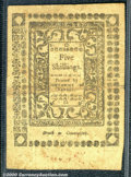 Colonial Notes:Rhode Island, May, 1786, 5s, Rhode Island, RI-295, VF. This widely margined n...
