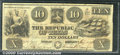 Miscellaneous:Republic of Texas Notes, $10, The Republic of Texas, 1/15/1840, A5, VF. This note has tw...
