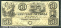 Miscellaneous:Republic of Texas Notes, $50, The Republic of Texas, 2/1/1840, A7, VF-XF. A beautiful, l...