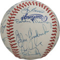 Autographs:Baseballs, 1982 AL All-Star Team Signed Baseball. In 1982 the All Star Gamewent international for the first time, being held at Olympi...