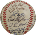 Autographs:Baseballs, 1985 Cleveland Indians Team Signed Baseball. Twenty-one signaturesfrom the 1984 Cleveland Indian squad have checked in on ...