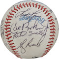 Autographs:Baseballs, 1985 Baltimore Orioles Team Signed Baseball. Twenty members of the'85 Baltimore Orioles have checked in on the clean OAL (...