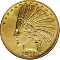 Indian Eagles: , 1911-D $10 MS60 NGC. This issue displays low mintage (30,100pieces) and low survival rate. Bright yellow-gold surfaces exh...