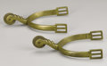 Military & Patriotic:Civil War, A Pair of Brass Tiffany Marked Spurs This is a pair of rare Tiffany spurs made of a simple design by the renowned New York j... (Total: 2 Items)