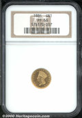 Proof Gold Dollars: , 1886 G$1
