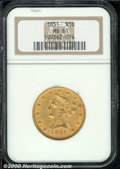 Liberty Eagles: , 1851 $10