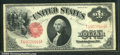1917 $1 Legal Tender Note, Fr-39, VF. The paper is very crisp but there are heavy folds, three vertical and one horizont...