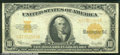 Large Size Gold Certificates:Large Size, 1922 $10 Gold Certificate , Fr-1173, VF. Lots of remaining cris...