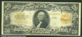 Large Size Gold Certificates:Large Size, 1922 $20 Gold Certificate , Fr-1187, F-VF. The back is bright b...