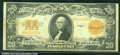 Large Size Gold Certificates:Large Size, 1922 $20 Gold Certificate, Fr-1187, VF. Strong color and good b...