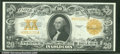 Large Size Gold Certificates:Large Size, 1922 $20 Gold Certificate, Fr-1187, XF-AU. This is the kind of ...