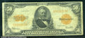 Large Size Gold Certificates:Large Size, 1922 $50 Gold Certificate, Fr-1200, Fine. While at the lower en...