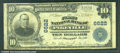 National Bank Notes:Kentucky, First National Bank of Pikeville, KY, Charter #6622. 1902 $10 T...