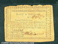 Colonial Notes:North Carolina, August 8, 1778, $1/2 North Carolina, NC-172, Fine. The signatur...
