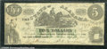 Miscellaneous:Obsolete and Broken Bank Notes, $5, The State of Alabama, Montgomery, 1/1/1864, Cr-15, VG. Ther...