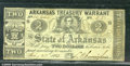 Miscellaneous:Obsolete and Broken Bank Notes, $2, The State of Arkansas Treasury Warrant, 2/20/1863, Cr-34A, ...