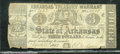 Miscellaneous:Obsolete and Broken Bank Notes, $3, The State of Arkansas, Arkansas Treasury Warrant, 3/18/1862...