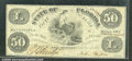 Miscellaneous:Obsolete and Broken Bank Notes, $50, The State of Florida, Tallahassee, 10/10/1861, Cr-4, VF. A...