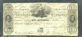 Miscellaneous:Obsolete and Broken Bank Notes, $100, The Augusta Insurance and Banking Company, Augusta, GA, 1...