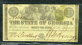 Miscellaneous:Obsolete and Broken Bank Notes, 25 cents, The State of Georgia, Milledgeville, GA, 1/1/1863, Cr...