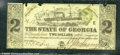 Miscellaneous:Obsolete and Broken Bank Notes, $2, The State of Georgia, Milledgeville, GA, 1/1/1864, Cr-29, F...
