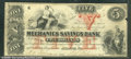 Miscellaneous:Obsolete and Broken Bank Notes, $5, Mechanics Savings Bank Atlanta, GA, 7/6/1863, Fine. A very ...