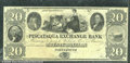 Miscellaneous:Obsolete and Broken Bank Notes, $20, The Piscataqua Exchange Bank, Portsmouth, NH, Ch CU+. This...