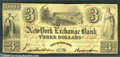 Miscellaneous:Obsolete and Broken Bank Notes, The New York Exchange Bank, 1/15/1840, VF. There are some scatt...