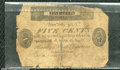 Miscellaneous:Obsolete and Broken Bank Notes, 5 cents, Bank of North America, Philadelphia, PA, 1815, AG. Thi...