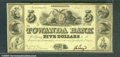 Miscellaneous:Obsolete and Broken Bank Notes, $5, The Towanda Bank, Towanda, PA, 6/1/1841, Fine. This evenly ...
