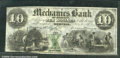 Miscellaneous:Obsolete and Broken Bank Notes, $10, The Mechanics Bank of Memphis, TN, 7/1/1854, AU. There are...