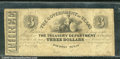 Miscellaneous:Obsolete and Broken Bank Notes, $3, The Government of Texas, Houston, TX, VG. This note has see...