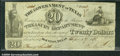 Miscellaneous:Obsolete and Broken Bank Notes, $20, The Government of Texas, Houston, TX, 9/1/1838, H19, VG-F....