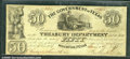 Miscellaneous:Obsolete and Broken Bank Notes, $50, The Government of Texas, Houston, TX, 6/1/1838, H21, Fine-...