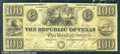 Miscellaneous:Obsolete and Broken Bank Notes, $100, The Republic of Texas, 5/28/1839, A8, Fine. Two stamp hin...
