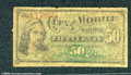 Miscellaneous:scrip, 50 cents, City of Mobile, Alabama, AG. The note is heavily worn...