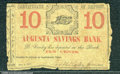 Miscellaneous:Scrip, 10 cents, Augusta Savings Bank, VG. This is a neat Civil War er...